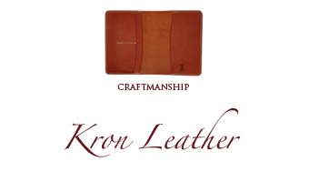 Kron Leather book covers