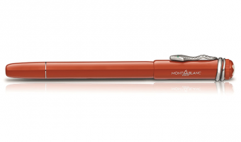 Heritage Collection 'Rouge & Noir' , coral fountain pen * Montblanc