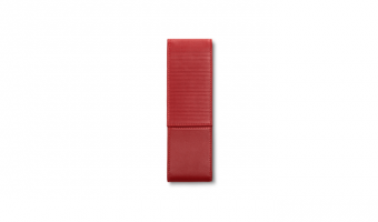Lamy pen holder in red leather for 2 pens