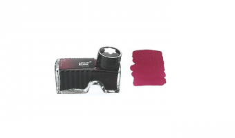 Montblanc Burgundy Red ink bottle