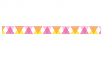 D335 * triangle and diamond pink * MT masking tape