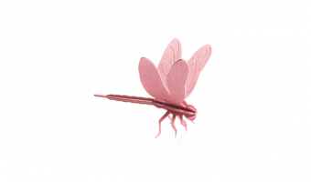 Dragonfly light pink * 3D puzzle card * LOVI