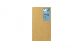 020 - kraft paper folder * regular *  Traveler's Company Japan