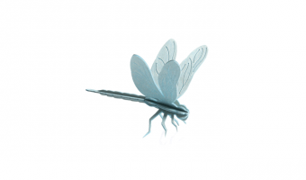 Dragonfly light blue * 3D puzzle card * LOVI