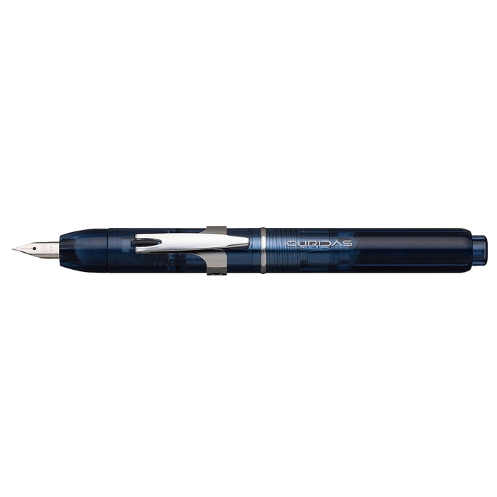 NEW * Curidas Abyss Blue retractable fountain pen * Platinum